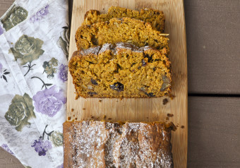 Honeyed Pumpkin Oat Bran Bread