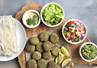 Air Fried Bengal Gram Falafel
