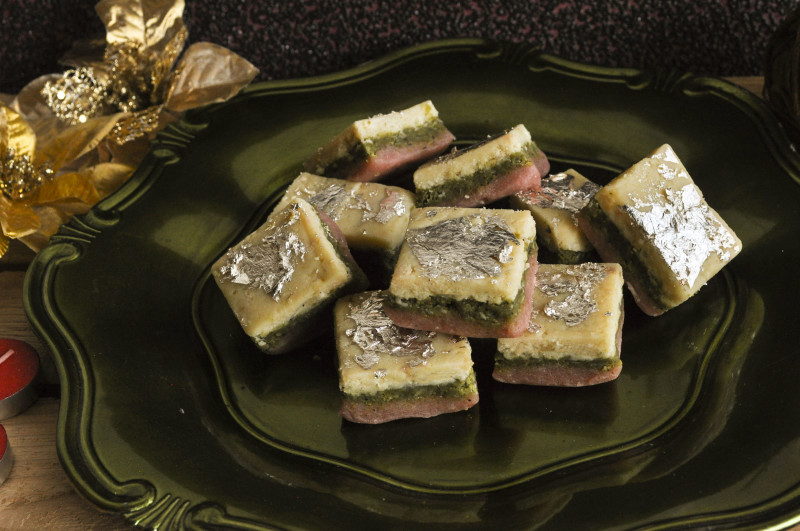 Almond Pistachio Barfi Recipe — Dishmaps