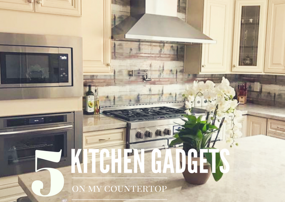 Want to know what are the top 5 Gadgets I have on my Kitchen Counter? Here are my kitchen essentials.