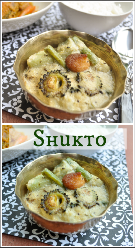 Shukto, a light stew is a summer veggies which is a palate cleanser of the Bengali cuisine.