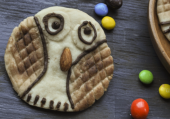 Halloween Hoot Cookies – Eggless Shortbread Cookies