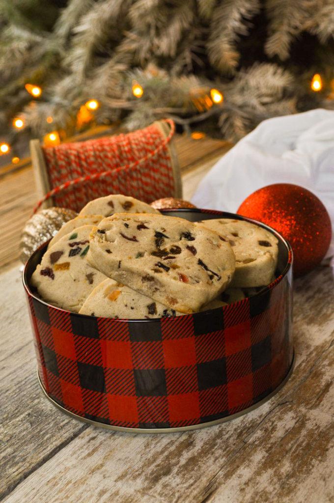 Eggless Fruitcake Shortbread Cookies